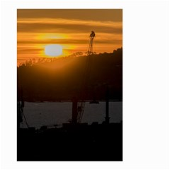 Aerial View Sunset Scene Of Montevideo Uruguay Small Garden Flag (Two Sides)