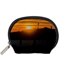 Aerial View Sunset Scene Of Montevideo Uruguay Accessory Pouches (Small)