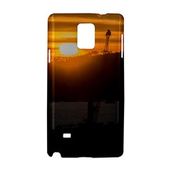 Aerial View Sunset Scene Of Montevideo Uruguay Samsung Galaxy Note 4 Hardshell Case