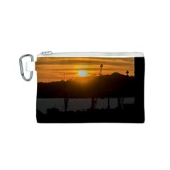 Aerial View Sunset Scene Of Montevideo Uruguay Canvas Cosmetic Bag (S)