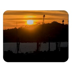 Aerial View Sunset Scene Of Montevideo Uruguay Double Sided Flano Blanket (Large)
