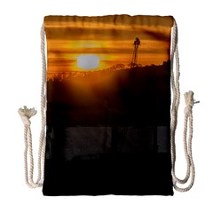 Aerial View Sunset Scene Of Montevideo Uruguay Drawstring Bag (Large)