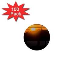 Aerial View Sunset Scene Of Montevideo Uruguay 1  Mini Magnets (100 pack)