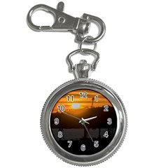 Aerial View Sunset Scene Of Montevideo Uruguay Key Chain Watches
