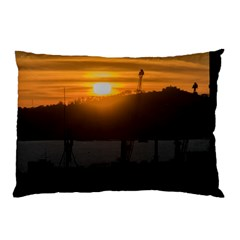 Aerial View Sunset Scene Of Montevideo Uruguay Pillow Cases (two Sides)