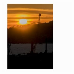 Aerial View Sunset Scene Of Montevideo Uruguay Large Garden Flag (Two Sides)