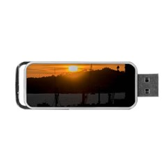 Aerial View Sunset Scene Of Montevideo Uruguay Portable Usb Flash (two Sides)