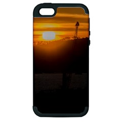 Aerial View Sunset Scene Of Montevideo Uruguay Apple iPhone 5 Hardshell Case (PC+Silicone)