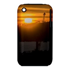 Aerial View Sunset Scene Of Montevideo Uruguay Apple iPhone 3G/3GS Hardshell Case (PC+Silicone)