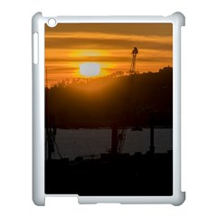 Aerial View Sunset Scene Of Montevideo Uruguay Apple iPad 3/4 Case (White)