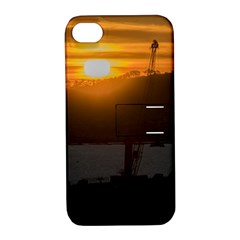 Aerial View Sunset Scene Of Montevideo Uruguay Apple iPhone 4/4S Hardshell Case with Stand