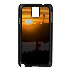 Aerial View Sunset Scene Of Montevideo Uruguay Samsung Galaxy Note 3 N9005 Case (Black)