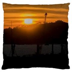 Aerial View Sunset Scene Of Montevideo Uruguay Standard Flano Cushion Cases (two Sides)