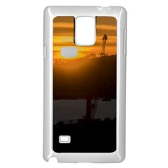 Aerial View Sunset Scene Of Montevideo Uruguay Samsung Galaxy Note 4 Case (White)