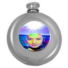 Sunshine Illumination Round Hip Flask (5 oz)