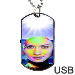 Sunshine Illumination Dog Tag USB Flash (One Side)