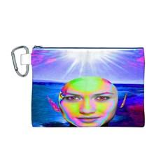 Sunshine Illumination Canvas Cosmetic Bag (m)
