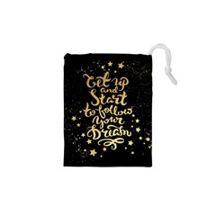 let up and start(gold)4 Drawstring Pouch (XS)