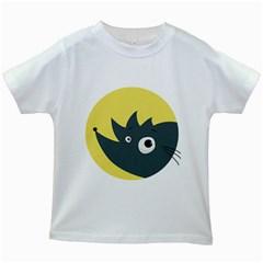 Cute Kawaii Cartoon Hedgehog Kids White T-Shirts