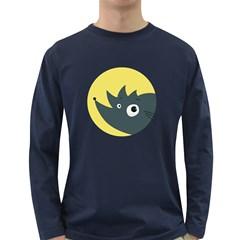 Cute Kawaii Cartoon Hedgehog Long Sleeve Dark T-Shirts
