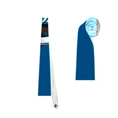 Surf, Surfboard With Water Drops On Blue Background Neckties (One Side)