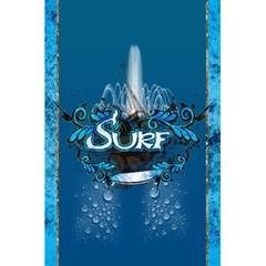 Surf, Surfboard With Water Drops On Blue Background 5 5  X 8 5  Notebooks