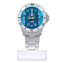 Surf, Surfboard With Water Drops On Blue Background Nurses Watches