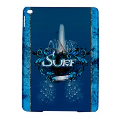 Surf, Surfboard With Water Drops On Blue Background iPad Air 2 Hardshell Cases