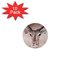 Antelope horns 1  Mini Buttons (10 pack)