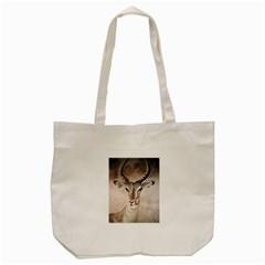 Antelope horns Tote Bag (Cream)