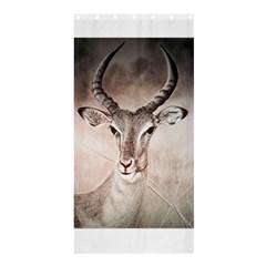 Antelope Horns Shower Curtain 36  X 72  (stall)