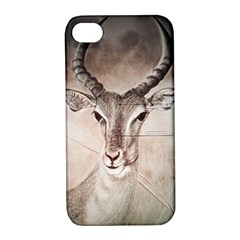 Antelope Horns Apple Iphone 4/4s Hardshell Case With Stand