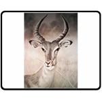 Antelope horns Double Sided Fleece Blanket (Medium)  60 x50 Blanket Back