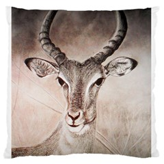 Antelope horns Standard Flano Cushion Cases (Two Sides)