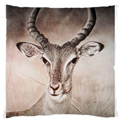 Antelope horns Large Flano Cushion Cases (Two Sides)