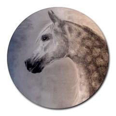 Grey Arabian Horse Round Mousepads
