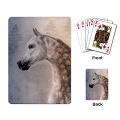 Grey Arabian Horse Playing Card
