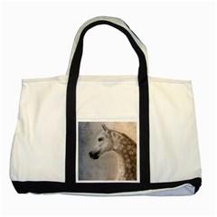 Grey Arabian Horse Two Tone Tote Bag