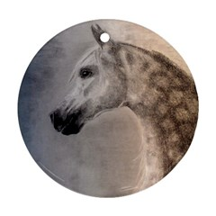 Grey Arabian Horse Round Ornament (Two Sides)
