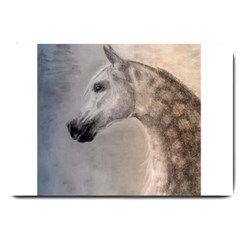 Grey Arabian Horse Large Doormat