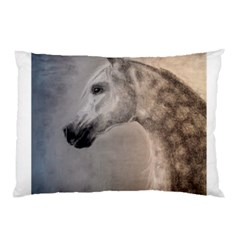 Grey Arabian Horse Pillow Cases