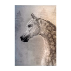 Grey Arabian Horse Shower Curtain 48  x 72  (Small)