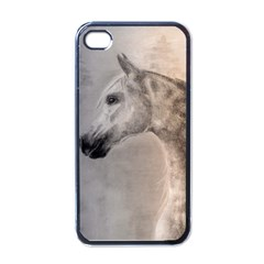 Grey Arabian Horse Apple iPhone 4 Case (Black)