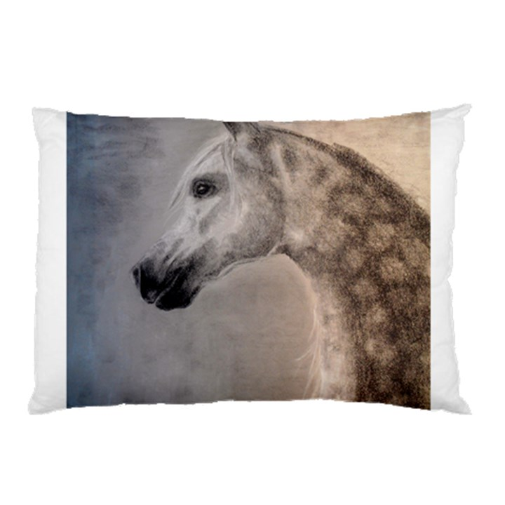 Grey Arabian Horse Pillow Cases (Two Sides)