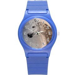 Grey Arabian Horse Round Plastic Sport Watch (s)