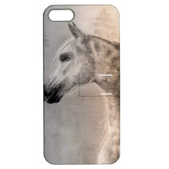 Grey Arabian Horse Apple Iphone 5 Hardshell Case With Stand