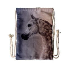 Grey Arabian Horse Drawstring Bag (Small)