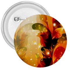 Awesome Colorful, Glowing Leaves  3  Buttons