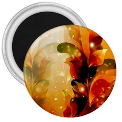 Awesome Colorful, Glowing Leaves  3  Magnets