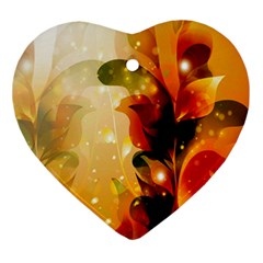 Awesome Colorful, Glowing Leaves  Ornament (Heart)
